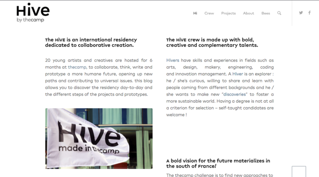 HIVE by thecamp - Website by Ooopener