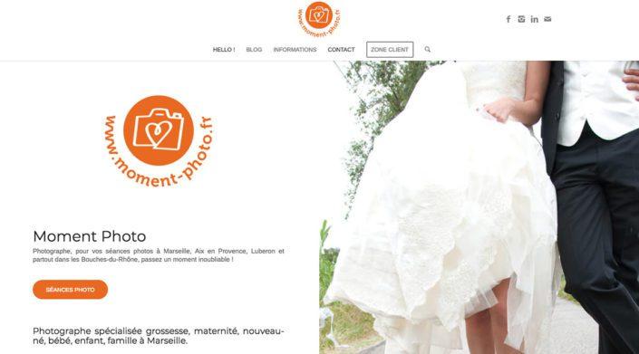Moment Photo - Website by Ooopener