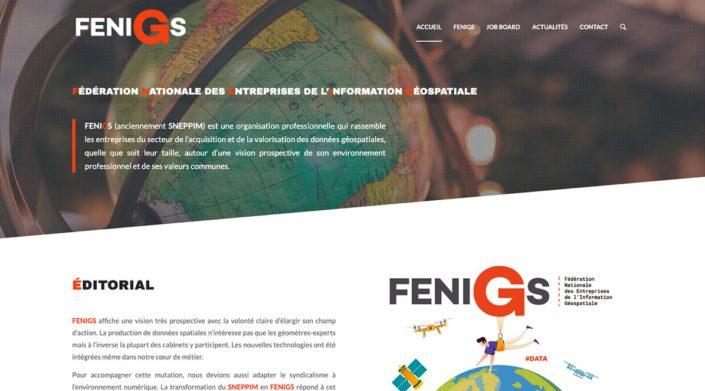 Fenigs - Fédération Nationale des Entreprises de L'information Géospatiale- Website By Ooopener