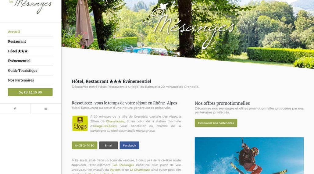 Hôtel et Restaurant des Mésanges à Uriage les Bains
